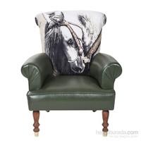 80-Lovely Horse Berjer - Yeşil Desenli
