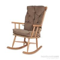 Asedia Teksas Sallanan Sandalye Naturel Renk