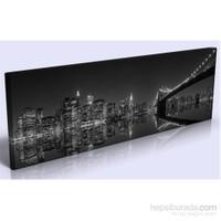 Arte Gece Şehir Köprü Kanvas Tablo