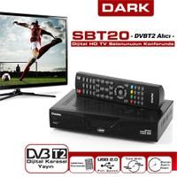 Dark SBT20 Dijital Karasal T2 HDMI, SCART Bağlantılı ve Medya Player Özellikli HD Yayın Alıcısı