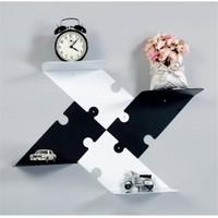 Decormet Puzzle Raf Seti 2 Sağ-2 Sol Tkm Siyah - Beyaz