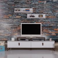Carla Home Rock Raflı Beyaz Tv Ünitesi