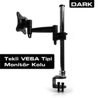 """Dark 1 TV Destekli Masa Tipi 13""""-27"""" LCD TV Kolu (DK-AC-VM10TV)"""