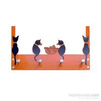 Balkondaki Kediler Kapı Askılığı