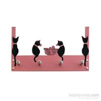 Balkondaki Kediler Kapı Askılığı 2