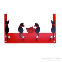 Balkondaki Kediler Kapı Askılığı 4