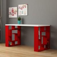 Decortie Labirent Çalışma Masası Beyaz-Kırmızı
