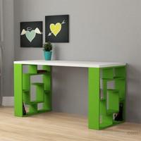 Decortie Labirent Çalışma Masası Beyaz-Yeşil