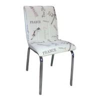 Mavi Mobilya Sandalye Beyaz Paris Suni Deri (6 Adet)