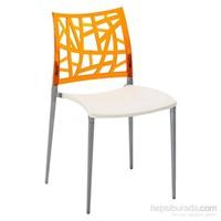 Neptün Pc Sandalye Krem-Portakal
