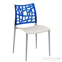 Neptün Pc Sandalye Krem Mavi
