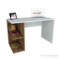 Dekorister Elegance Çalışma Masası Beyaz/Ceviz