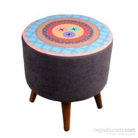 Dolce Home Renkli Düğmeler Desenli Puf