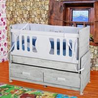 Banana Baby&Kids İnci 2 Çekmeceli Asansörlü Beşik Antik