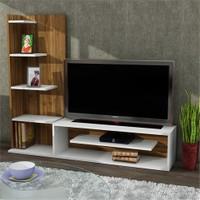 Dekorister Sleek Tv Ünitesi Beyaz-Ceviz