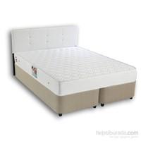 Derman Yatak Çift Kişilik Sandıklı Kumaş Baza + Başlık + Ortopedik Dream Yatak 160*200