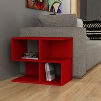Decortie Aaron Corner Kitaplık Kırmızı