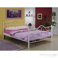 Metalia Gm608 Golden Karyola + Yatak Takımı