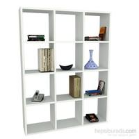 Dekorister Ultimate Kitaplık Beyaz