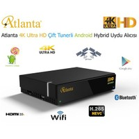 Atlanta 4K Ultra HD Çift Tunerli Android Hybrid Uydu Alıcısı