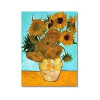 Tictac Van Gogh Ay Çiçekleri Kanvas Tablo - 60X90 Cm