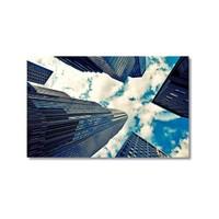 Tictac Binalar Ve Gökyüzü Kanvas Tablo - 40X60 Cm