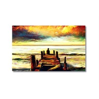 Tictac İskelede Kanvas Tablo - 50X75 Cm
