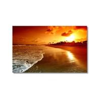 Tictac Deniz Kum Güneş Kanvas Tablo - 40X60 Cm