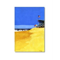 Tictac Issız Sahil 2 Kanvas Tablo - 50X75 Cm