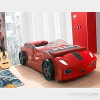 Arabalı Yatak - 3D Yavrusuz - Kırmızı