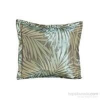 Yastıkminder Tafta Yeşil Palmiye Desen Dekoratif Yastık