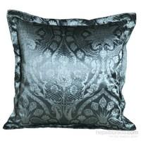 Yastıkminder Tafta Mavi Damask Ottaman Osmanlı Desen Yastık