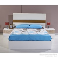 Dessenti Cumba Glaksi Yatak Odası 150 Lik Başlık Beyaz-Sonomo