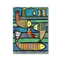 Tictac Balıklar Kanvas Tablo - 50X75 Cm