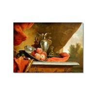 Tictac Antik Naturmort Kanvas Tablo - 40X60 Cm