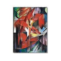 Tictac Kırmızı Tilki Kanvas Tablo - 50X75 Cm