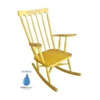 Maxxdepo Crocus Eskitme Sarı Sallanan Sandalye