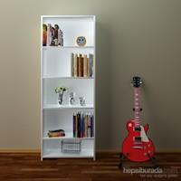 Eyibil Mobilya Linda 5 Raflı Kitaplık ( Arkalıklı Model )