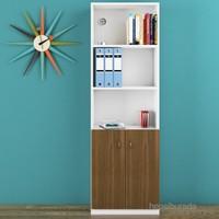 Eyibil Mobilya Poyraz 5 Raflı Kapaklı Kitaplık ( Derinlik 30 Cm )