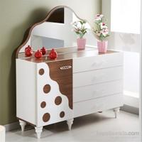 Dessenti Amor Yatak Odası Aynalı Şifonyer Beyaz