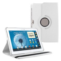 "Case 4U Samsung Galaxy Note N8000\N8010\N8013 10.1"" 360° Dönebilen Beyaz Standlı Tablet Kılıfı"