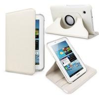 """Case 4U Samsung Galaxy Tab2 P3100 7"""" 360° Dönebilen Beyaz Standlı Tablet Kılıfı"""