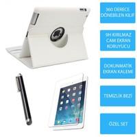 Mobile World iPad Mini 3 Beyaz Kılıflı 3 Parça Aksesuar Seti