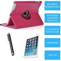 Mobile World iPad Mini 3 Pembe Kılıflı 3 Parça Aksesuar Seti