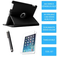 Mobile World iPad 3 Siyah Kılıflı 3 Parça Aksesuar Seti