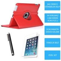 Mobile World iPad 3 Kırmızı Kılıflı 3 Parça Aksesuar Seti