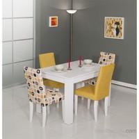 Mobetto Manolya Masa Seti Sarı (Masa+4Adet Sandalye)