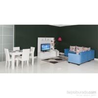 Moda Life Mobetto Marsilya Hazır Oda (Köşe Takımı+Tv Ünitesi+Masa+4 Adet Sandalye)