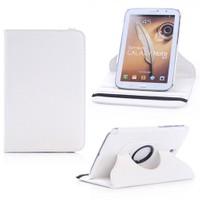 Microsonic 360 Rotating Stand Deri Kılıf Samsung Galaxy Note 8.0 N5100 Beyaz