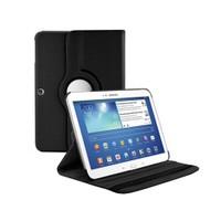 Microsonic 360 Rotating Stand Deri Kılıf Samsung Galaxy Tab3 10.1 İnch P5200 Siyah